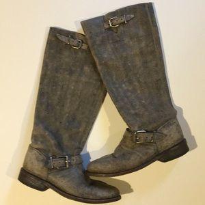 Miz Mooz Tall Distressed Boots Size 7
